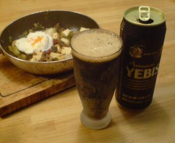冷えたビール、冷えたグラス